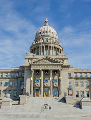 Photograph - Idaho State Capitol Building-vertical by Shanna Hyatt