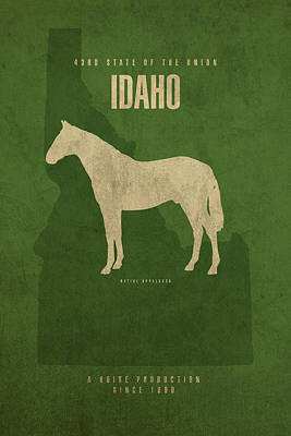 Movie Mixed Media - Idaho State Facts Minimalist Movie Poster Art by Design Turnpike