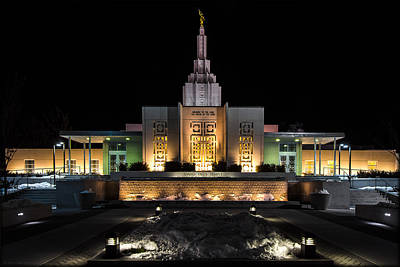Photograph - Idaho Temple by Erika Fawcett