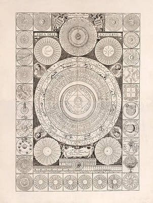 Drawing - Idea Dell Universo - Model Of The Universe - Celestial Chart - Astronomical Chart by Studio Grafiikka