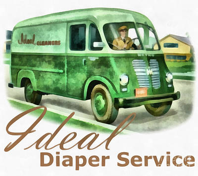 Comic Character Paintings - Ideal Diaper Service Painting by Edward Fielding