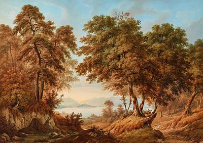 Switzerland Painting - Idealized Landscape by Unknown