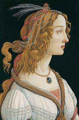 Early Painting - Idealized Portrait Of A Lady by Sandro Botticelli