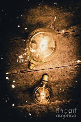 Light Bulb Wall Art - Photograph - Ideas Evolution by Jorgo Photography - Wall Art Gallery