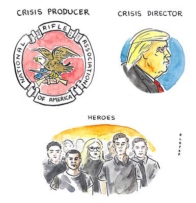 Drawing - Identifying The Crisis Producer In Parkland by Brendan Loper