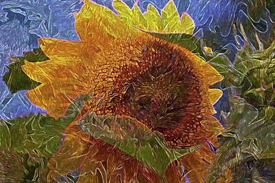Photograph - Ides Of The Sunflower 5 by Lynda Lehmann