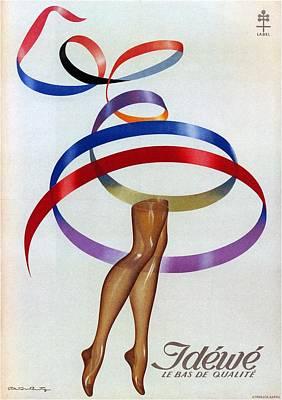 Mixed Media - Idewe - Stockings - Minimal Vintage Advertising Poster by Studio Grafiikka
