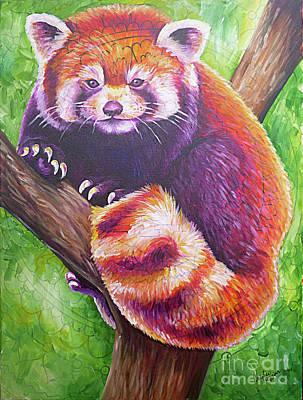 Red Panda Painting - Idgie, Red Panda by Natalie Huggins