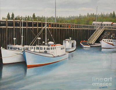 Painting - Idle At Low Tide by Al Hunter