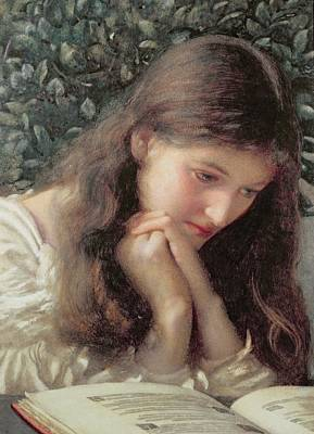 Literature Painting - Idle Tears by Edward Robert Hughes