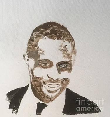 Painting - Idris Elba by Audrey Pollitt