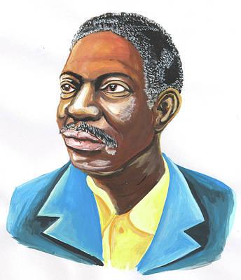 Painting - Idrissa Ouedraogo 01 by Emmanuel Baliyanga