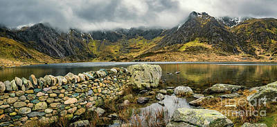 Photograph - Idwal Lake Panorama by Adrian Evans