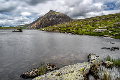 Idwal Lake Rocks Print by Adrian Evans