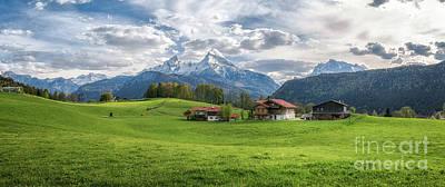 Photograph - Idyllic Alpine Farm Scene by JR Photography