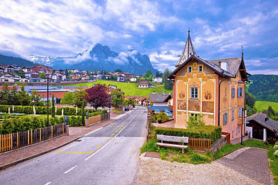 Photograph - Idyllic Alpine Town Of Kastelruth Architecture And Mountains Vie by Brch Photography