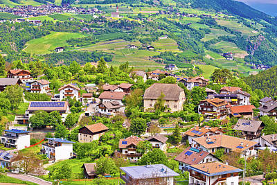 Photograph - Idyllic Alpine Village Of Gudon Architecture And Landscape View by Brch Photography