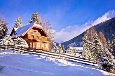 Photograph - Idyllic Austrian Alps Mountain Village by Brch Photography