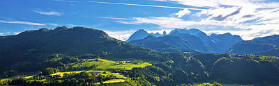 Photograph - Idyllic Austrian Alps Panoramic View by Brch Photography
