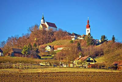 Photograph - Idyllic Austrian Village Of Straden On Green Hill View by Brch Photography
