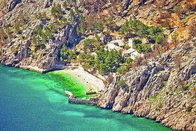 Photograph - Idyllic Beach And Stone Village On Cliff Of Biokovo Mountain by Brch Photography