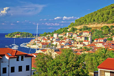 Photograph - Idyllic Coastal Town Of Vis Waterfront View by Brch Photography
