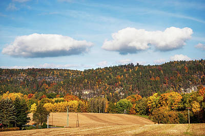 Photograph - Idyllic Countryside In Fall by Jenny Rainbow