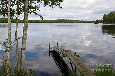 Photograph - Idyllic Lake View by Kennerth and Birgitta Kullman