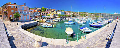 Photograph - Idyllic Mediterranean Waterfront In Volosko Village Panoramic Vi by Brch Photography