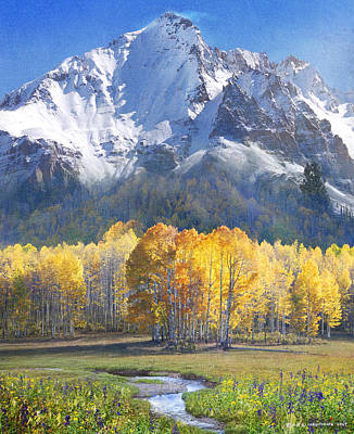 Montana Digital Art - Idyllic Mountain Scene 3 by R christopher Vest