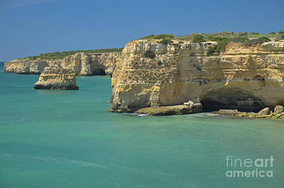 Cliffs Photograph - Idyllic Sea And Cliff Scenery by Angelo DeVal