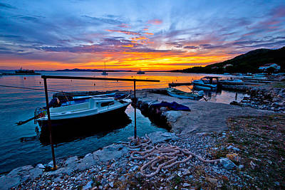 Photograph - Idyllic Sunset In Old Fishermen Harbor by Brch Photography