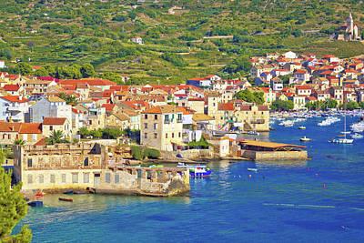 Photograph - Idyllic Town Of Komiza On Vis Island Summer View by Brch Photography