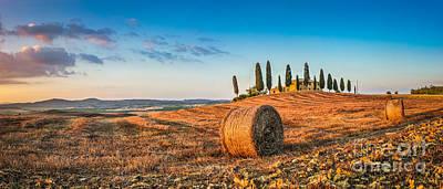 Photograph - Idyllic Tuscany Landscape At Sunset by JR Photography