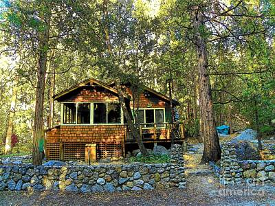 Photograph - Idyllwild - Houses On The Hill 655 by Lisa Dunn