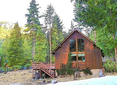 Photograph - Idyllwild Cabin 1344 by Lisa Dunn