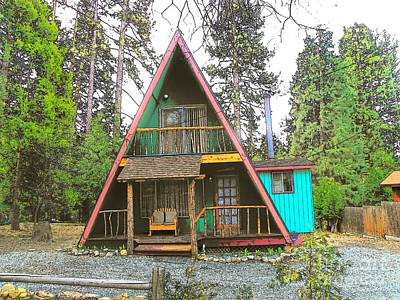 Photograph - Idyllwild Cabin 1424 by Lisa Dunn