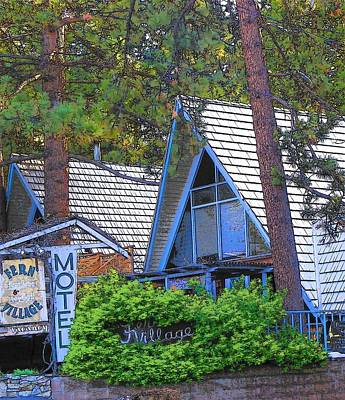 Photograph - Idyllwild Fern Village Motel 1673 by Lisa Dunn
