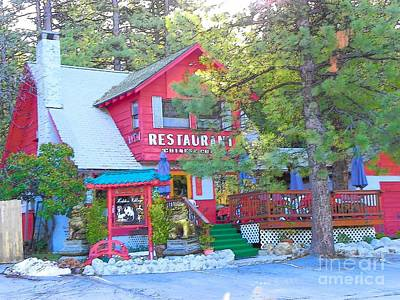 Photograph - Idyllwild Hidden Village Restaurant by Lisa Dunn