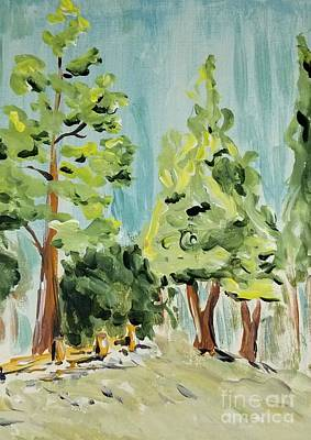 Painting - Idyllwild  by Maria Langgle