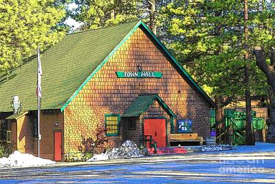 Photograph - Idyllwild Town Hall 1658 by Lisa Dunn