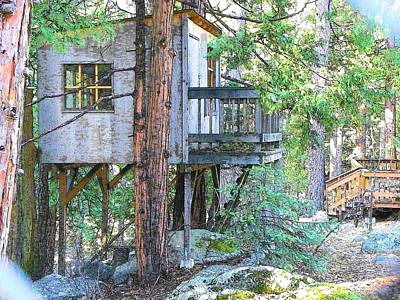 Photograph - Idyllwild Tree House by Lisa Dunn