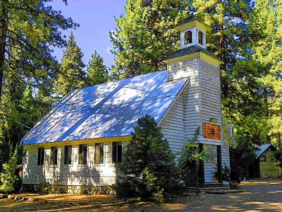 Photograph - Idyllwild Village Church 129 by Lisa Dunn
