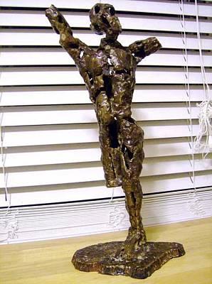 Sculpture - I.e.d. Figure Study by Don Thibodeaux