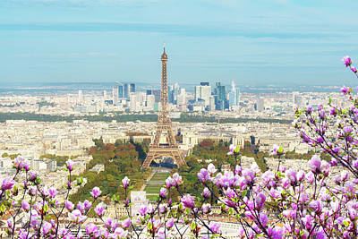 Photograph - Spring Cityscape Of Paris by Anastasy Yarmolovich