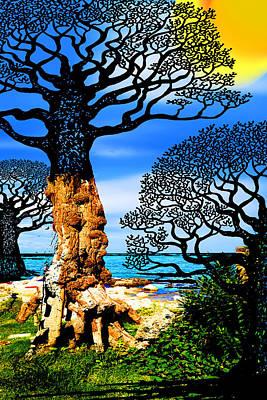 Optimistic Painting - If A Tree Falls In Sicily Black by Tony Rubino