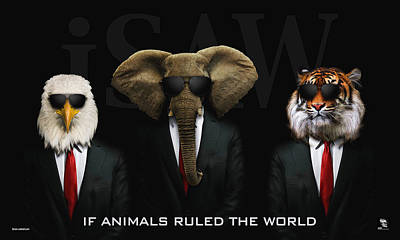 Digital Art - If Animals Ruled The World by ISAW Gallery