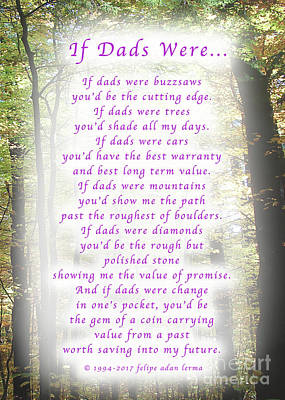 If Dads Were Greeting Card And Poster Art Print by Felipe Adan Lerma