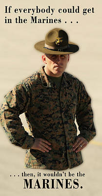 Digital Art -  If Everybody Could Get In The Marines .  .  . by Daniel Hagerman