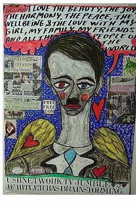 Adolf Mixed Media - If Hitler Has Brainstorming by Francesco Martin